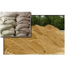 Песок в мешках крупный