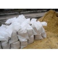 Песок в мешках крупный (двойной промывки)