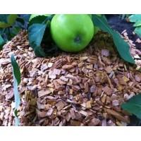 Щепа древесная (Яблоня -7-10) в мешках 1 кг