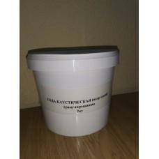Каустическая сода гранулированная, 2 кг.